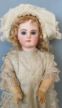 Antique Beautiful French Bisque Bebe Jumeau known as Portrait from abigailsattic on Ruby Lane