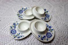 Set of Four Figgjo Flint Lotte Turi Egg Cups, Egg Holders