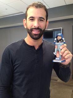 Jose Bautista hey I have that bobble head ☺️ Toronto Blue Jays, Mlb, Raptors, Bobble Head, Baseball, Christmas Catalogs, Sexy, Men's Hair, Curling