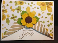 Flower Shop Punch, English Garden, Birthday Card, Stampin' Up!, Rubber Stamping, Handmade Cards