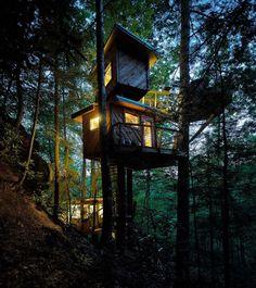 Sweet dreams. #treehousevillage #redrivergorgeous #kidsinthewoods #canopycrew #treehouse #arblife #treeclimber #observatorytreehouse #rrg #treesrule #treehouserental  @chrisvonholle