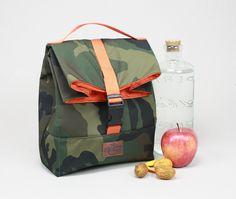 Lunch bags, lunch bag tote, lunch bag waxed canvas, bolsa de almuerzo, waxed canvas tote, lona encerada, lunch bag leather, tote waxed canvas, bolsa de merienda, bolso para la merienda,sac á lunch, lunch bag impermeable, lunch bag camouflage, lunch bag camuflaje.