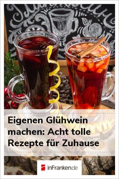 Glühwein selber machen: 8 Rezepte für Zuhause You want to drink mulled wine, but visiting the Christmas market is too expensive or too cold for you? We have eight mulled wine and punch recipes t Holiday Appetizers, Healthy Appetizers, Holiday Desserts, Healthy Holiday Recipes, Healthy Juice Recipes, New Year's Drinks, Wine Drinks, Punch Recipes, Wine Recipes