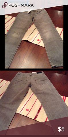 Black distressed Lee dungarees Distressed Grey Lee Bottoms Jeans