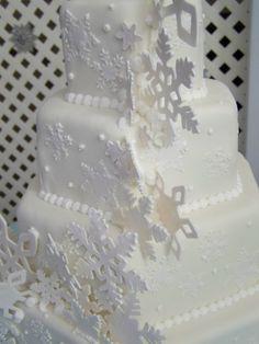 Snowflake Wedding Cake www.facebook.com/AbsolutelyCake or www.absolutelycake.com