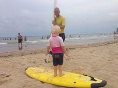 Surf på stranden for store og små ;)