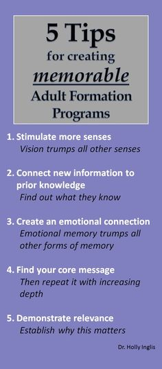 5 tips for memorable adult formation