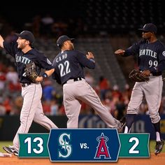 #Mariners offense explodes in 13-2 win over the Angels. 9/16/14