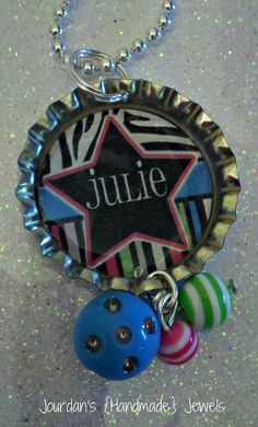 Custom Name Bottlecap Necklace by jourdanshndmdjewels on Etsy, $8.00