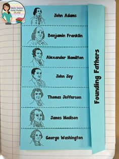 Foldable Friday: Founding Fathers