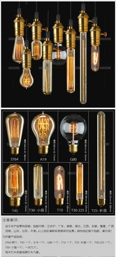 traditional Edison classic Silk light bulb vintage sericultural pendant bulb lamp 9 model for choice free shipping $45.00