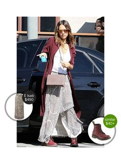 Jessica Alba on Melrose Ave - seen in Dr. Martens and Etoile Isabel Marant. #drmartens #etoileisabelmarant  #jessicaalba @dejamoda