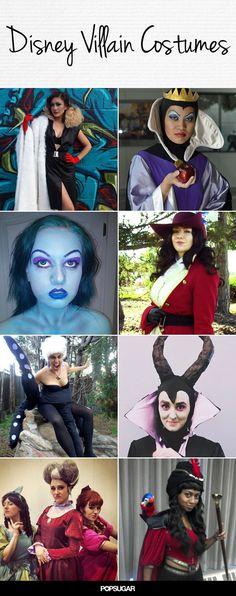Wicked-Awesome Disney Villain Halloween Costumes Disney Villians Costume, Villain Costumes, Disney Villains, Princess Costumes, Disney Characters, Halloween Villain, Halloween Kostüm, Halloween Cosplay, Cosplay Diy