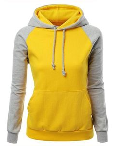 e1da55c7c410 Women 6 Colors Contrast Long Raglan Sleeve Front Pocket Casual Hoodies New  Cotton Plus Size Sweatshirt Slim Jogging Suits
