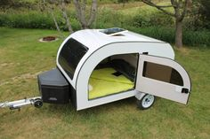 The world of tiny campers just got a lot cuter thanks to the Scandinavian-inspired teardrop trailer, the Droplet.