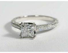 1.01 Carat Diamond Heirloom Micropave Diamond Engagement Ring | Recently Purchased | Blue Nile