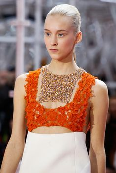 playin with textures @ Christian Dior Spring 2015 Couture - Collection - Gallery - Style.com