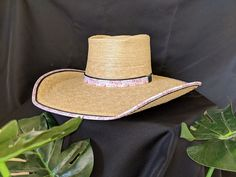 52f03503e9713 Oak 57 Boxtop Crown Palm Leaf Hat made by Cannard Hats