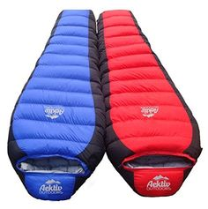 Aektiv Outdoors 15 Degree Ultralight Mummy Down Sleeping Bag for camping & backpacking with Compression Sack