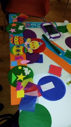 Everything ready for our Easter crafts.