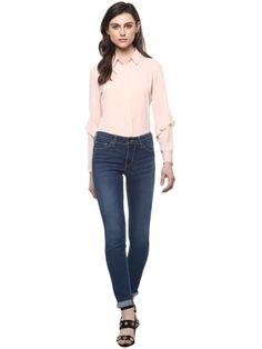 Full Blue Denim Ankle Length Skinny Fit Jeans Skinny Fit Jeans, Ankle Length, Blue Denim, India, Pants, Stuff To Buy, Shopping, Fashion, Moda