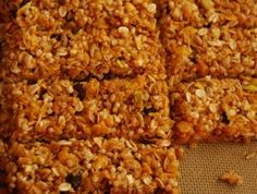 Barras de cereales. Sanas y nutritivas