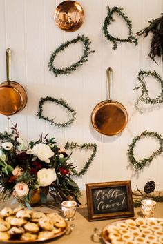 Winter cocktail party backdrop