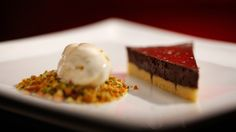 MKR4 Recipe - Chocolate Tart with Cinnamon Ice Cream