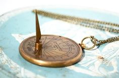 This functional sundial necklace:   29 Gifts For Anyone With Major Wanderlust