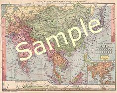 JAPAN Old Map Of Japan In Original Large English Antique - Japan map 1900