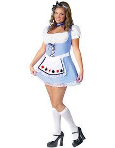 Alice in Wonderland Costume (Plus Size).  http://www.getiton-fancydress.co.uk/adults/fairytales/aliceinwonderland/aliceinwonderlandcostumeplussize#.Ung9IlOnIYI