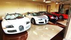 A look into Floyd money mayweather's garage. Bugatti on Bugatti on Bugatti's  #bugatti #bugatticar #bugatticars