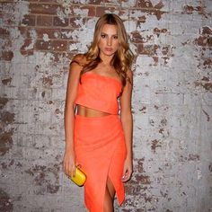 The Acid Rain Strapless Top & Skirt as seen on Laura Dundovic is now available in Boutiques and Online xx