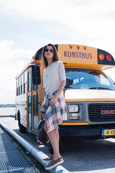 Easy Breezy with Denim, Slip-ons and a Flannel | Negin Mirsalehi
