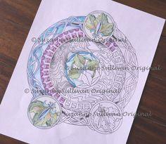 Mandala Coloring Book Page Coloring Printable by ColorMeArtStudio