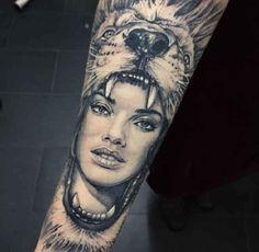 schöne tattoos, löwe tattoo am unterarm stechen lassen