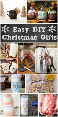 Easy DIY Christmas Gifts! Great ideas for handmade Christmas gift ideas.