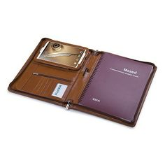 Deluxe Leather Padfolio for Samsung Galaxy Tab 8.0/Galaxy Tab 3 7.0/ Note 8.0, Letter-Size A4 Paper
