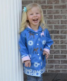 Another great find on #zulily! Blue Pony Raincoat - Infant, Toddler & Girls by Foxfire #zulilyfinds