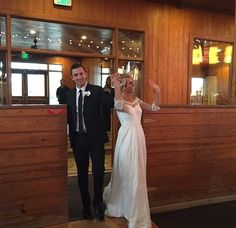 Arriving for the first time as husband and wife #tylerandjennajoseph