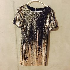Topshop Gold Sequin Dress Topshop gold sequin dress! It is perfect for the holidays or a girls night out! I never wore it but did take the tag off. Topshop Dresses