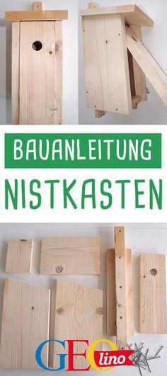 GEOlino zeigt euch, wie ihr den perfekten Nistkasten baut. #holz #basteln #garten #bastelnmitkindern #bauen #gartenprojekt #nistkasten #vogelkasten #tierschutz