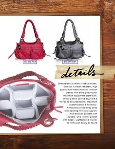 I think these are brilliant camera bags for women from #epiphanie