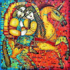 Sonata For Two And Unicorn by Albena Vatcheva #equine #art #color