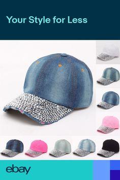 e8859cf42c0 Snapback Soft Casual Crystal Bling Breathable Cowboy Adjustable Baseball Hat.  Baseball Hats ...