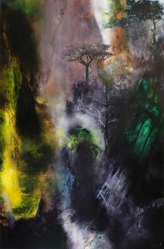 Illusion: A painting by Chris Veeneman.  http://illusion.scene360.com/news-community/huangshan/ #huangshan #art #painting