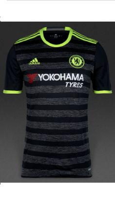 Adidas mens #chelsea fc away #shirt2016/17 football #short sleeve crew neck top,  View more on the LINK: http://www.zeppy.io/product/gb/2/162324292696/