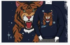 We Bare Bears Jean Jacket Lucky Tiger Sweater