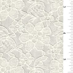"""Ivory Lace - 15 YARD BOLT - Fabric By The Yard $53 per bolt - bolts are 60"""" x 540"""" (to get that drapped look you need about 90"""" long per table) you can get  9 tables out of EACH BOLT  getting 2 bolts for around 135.00 (including shipping) is a GREATTTTT DEAL!  you may even be able to get away with just one bolt, I want you to measure the tables when you go to visit WM!"""