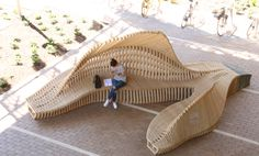 Articulated Timber Ground | University of Melbourne MArch students under guidance of Paul Loh and David Leggett (Power to Make) | Archinect